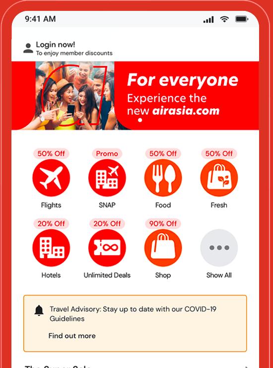 The airasia.com Mobile App