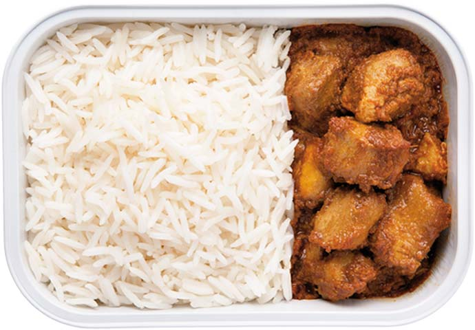 Chicken Rendang with Basmathi Rice