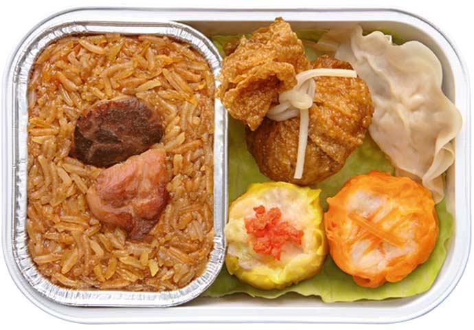 Kombo Nasi Pulut dengan Ayam dan Dim Sum