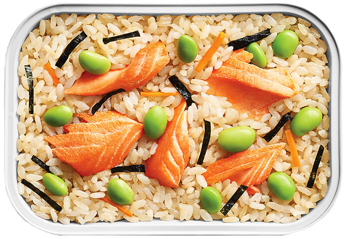 Hijiki Rice with Smoked Salmon
