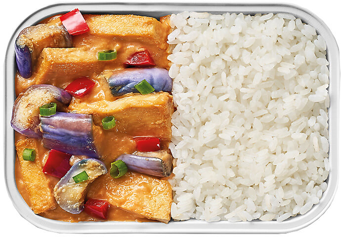 Miso Eggplant and Tofu with Rice