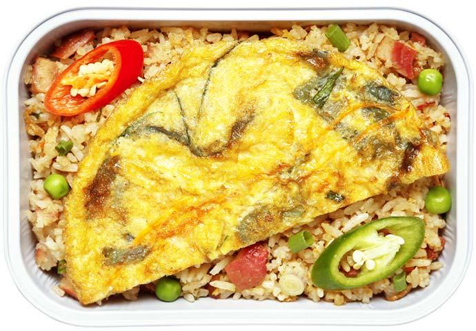 Nasi Goreng Yangzhou dengan Telur Dadar
