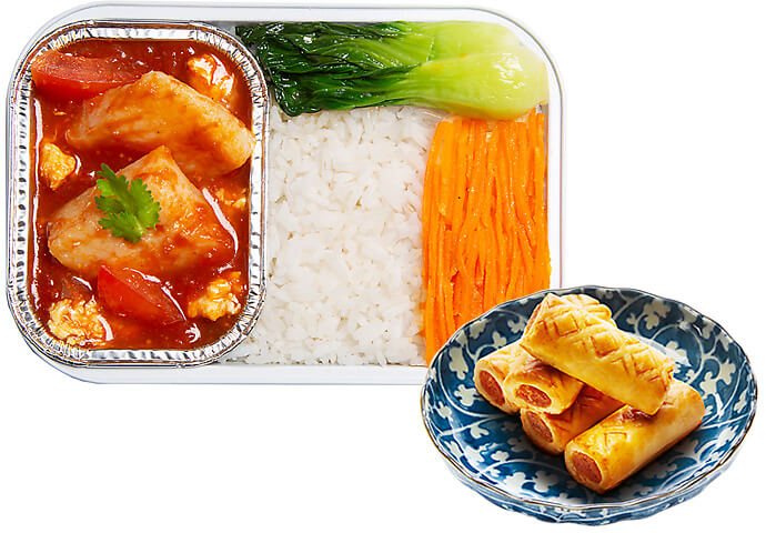 Prosperity Tomato Egg and Fish Stew with Rice + Pineapple Tart