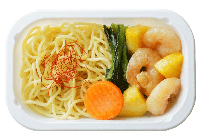 Chinese Noodles with Sauteed Prawn & Pineapple