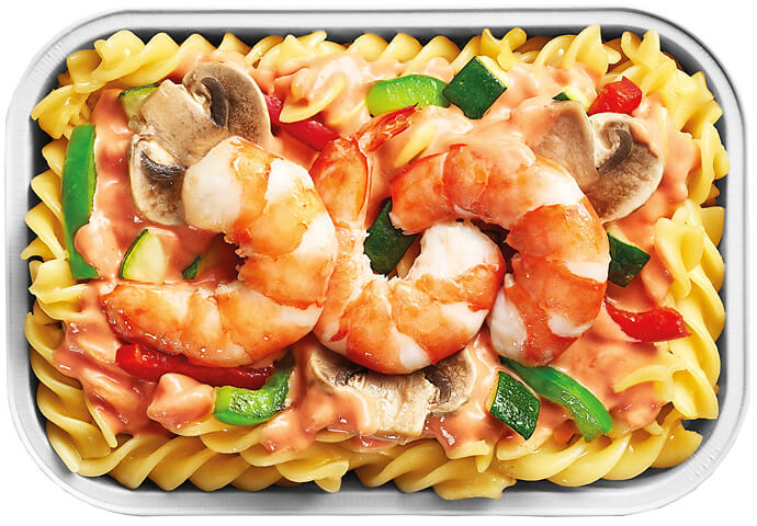 Shrimp and Vegetables Goulash with Rotini Pasta