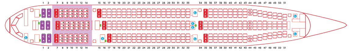 AirAsia Airbus A330 type a seat map