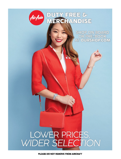 AirAsia duty free catalogue for Z2 flight