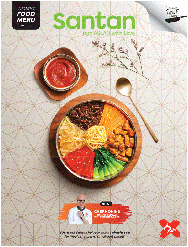 AirAsia Inflight menu for D7 flight