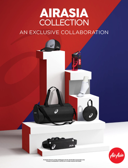 AirAsia merchandise catalogue for AK flight