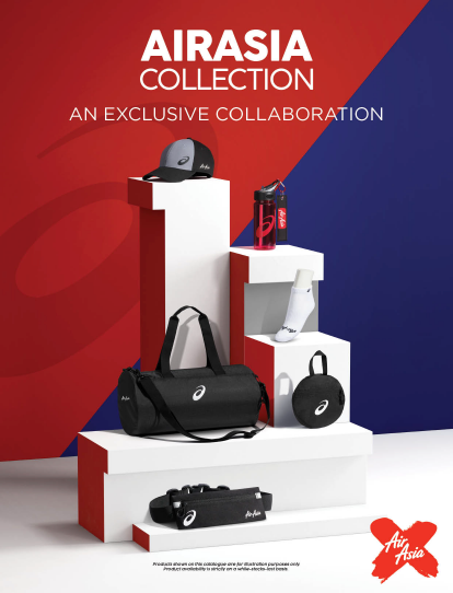 AirAsia merchandise catalogue for D7 flight