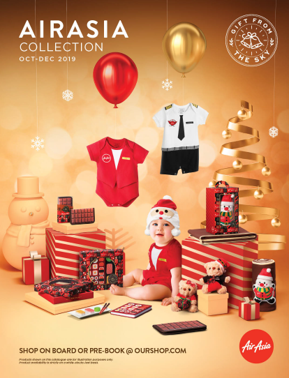 AirAsia merchandise catalogue for QZ flight