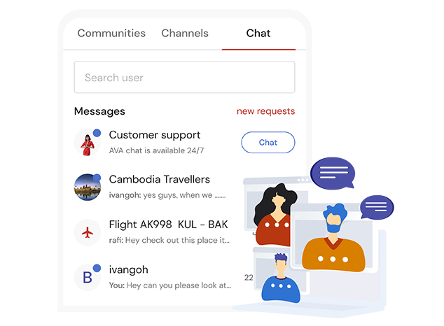 Chat with Fellow Travellers