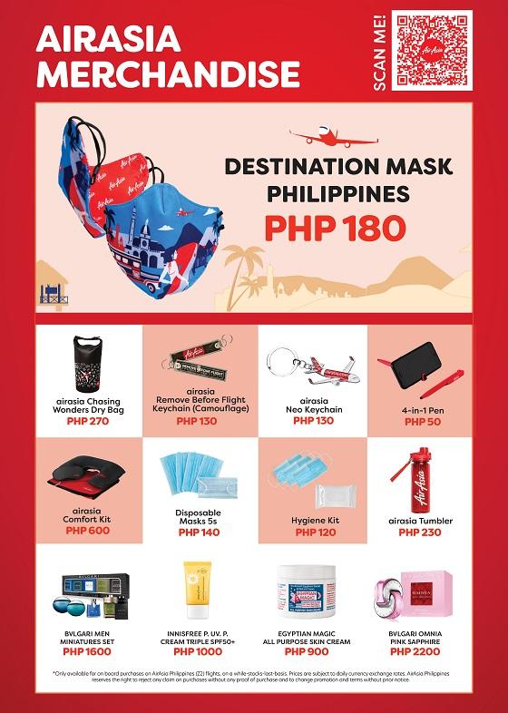 AirAsia Duty-Free & Merchandise catalogue for Z2 flight